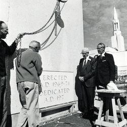 Ogden Utah Temple dedication.