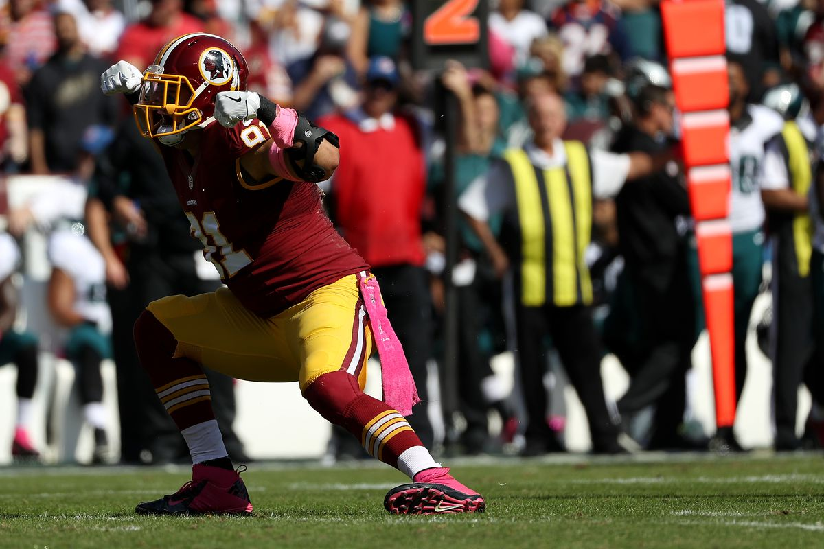 Ryan Kerrigan scores the Redskins first TD with a Pick 6 Hogs Haven