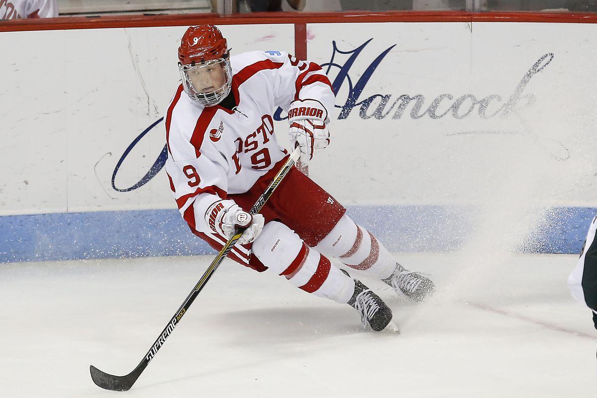 Boston University freshman and top NHL Draft target Jack Eichel