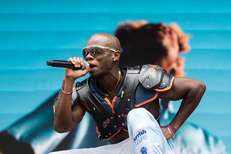 Tobi lou wows the crowd during his set Friday afternoon at Lollapalooza.