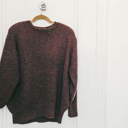 Sayaka Davis ribbed mohair sweater in burgundy, $340