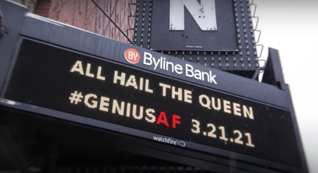 The marquee the Aragon Ballroom in Chicago.