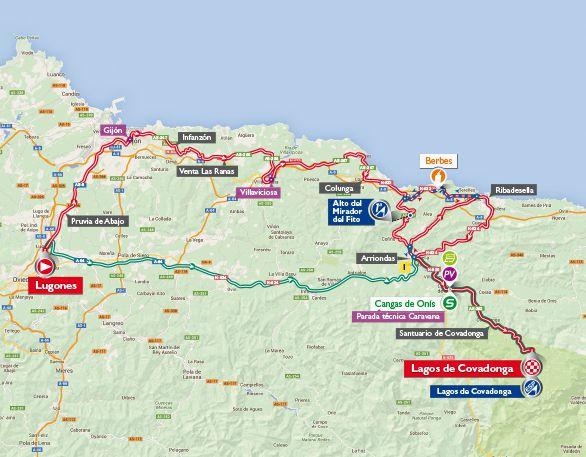 St 10 Vuelta map