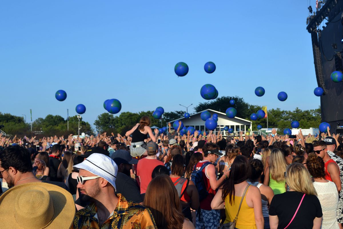 """Crowds gather at Lollapalooza in August 2019. A city """"Vax Pass"""" program could be in place for select concerts this summer, officials said."""