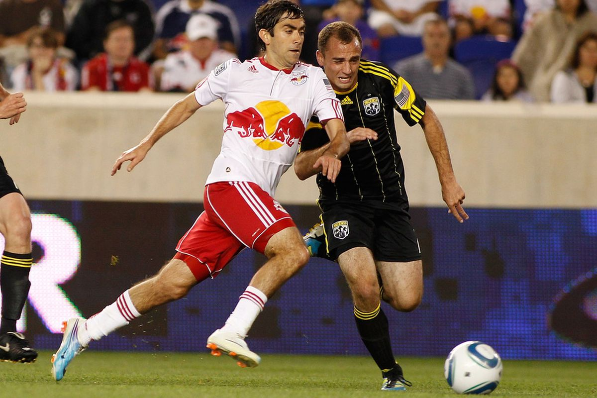HARRISON, NJ - JUNE 04:  Former Red Bull Austin da Luz is now playing for the RailHawks (Photo by Mike Stobe/Getty Images for New York Red Bulls)