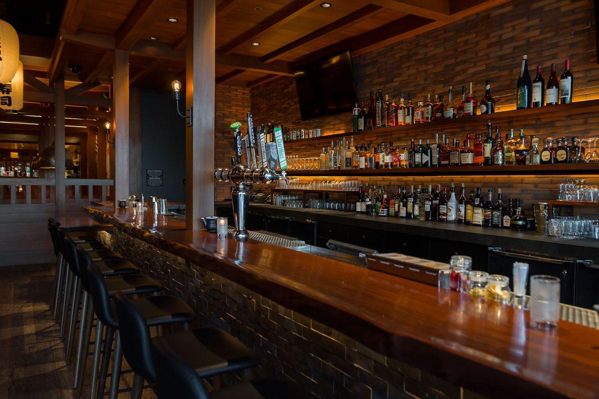 The bar at Blue Ribbon Sushi Bar & Grill
