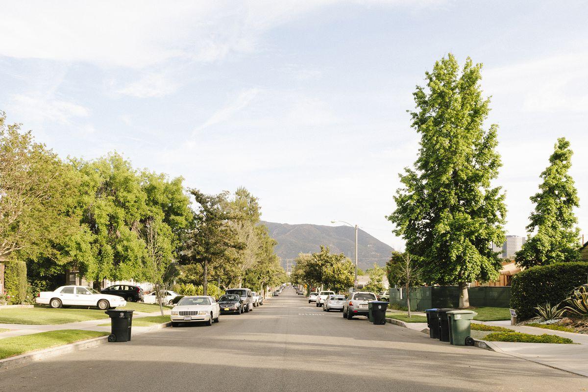 Residential street in the San Fernando Valley