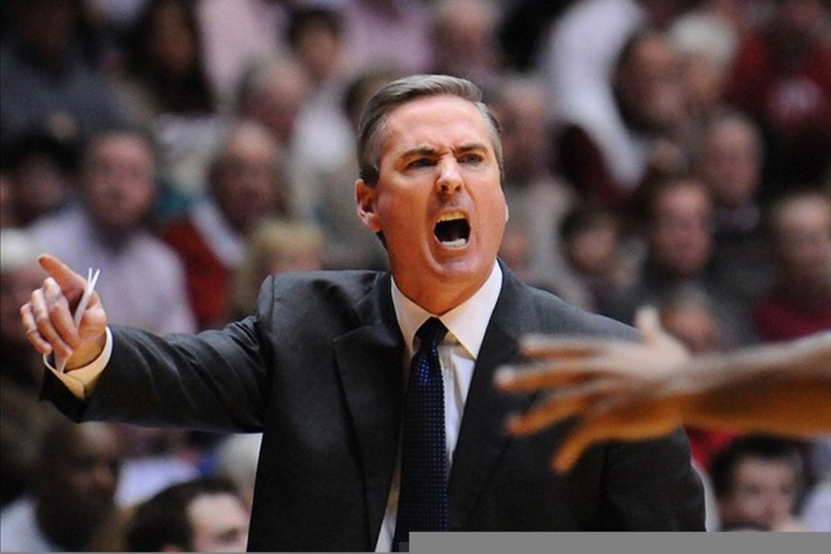 """Whether you love him or hate him, Rick Stansbury certainly shouldn't be retained simply because """"he's the best we can do"""" Mandatory Credit: Kelly Lambert-US PRESSWIRE"""