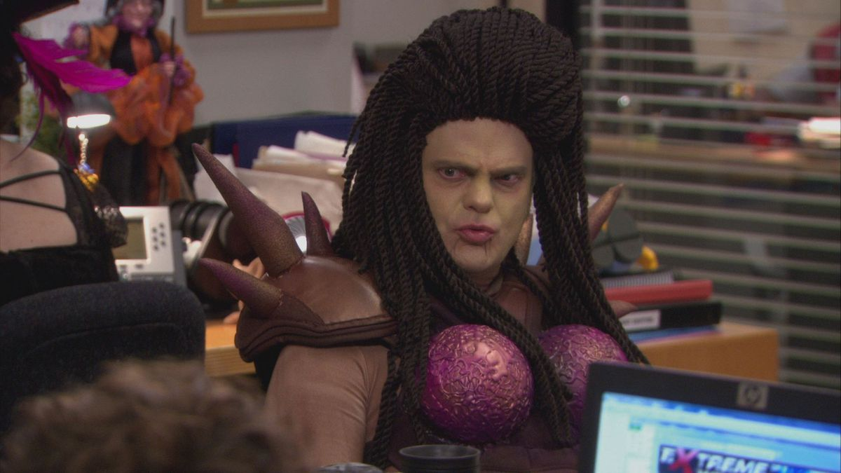 Dwight dresses in costume