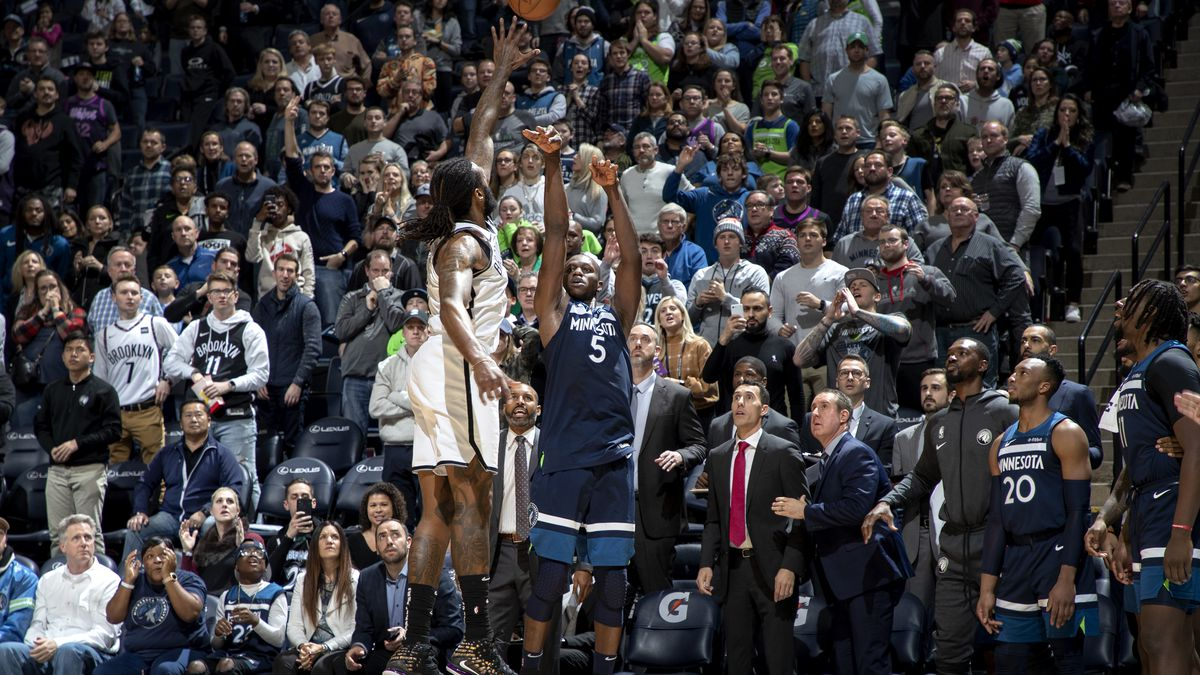 The Minnesota Timberwolves slip past the Brooklyn Nets in overtime.
