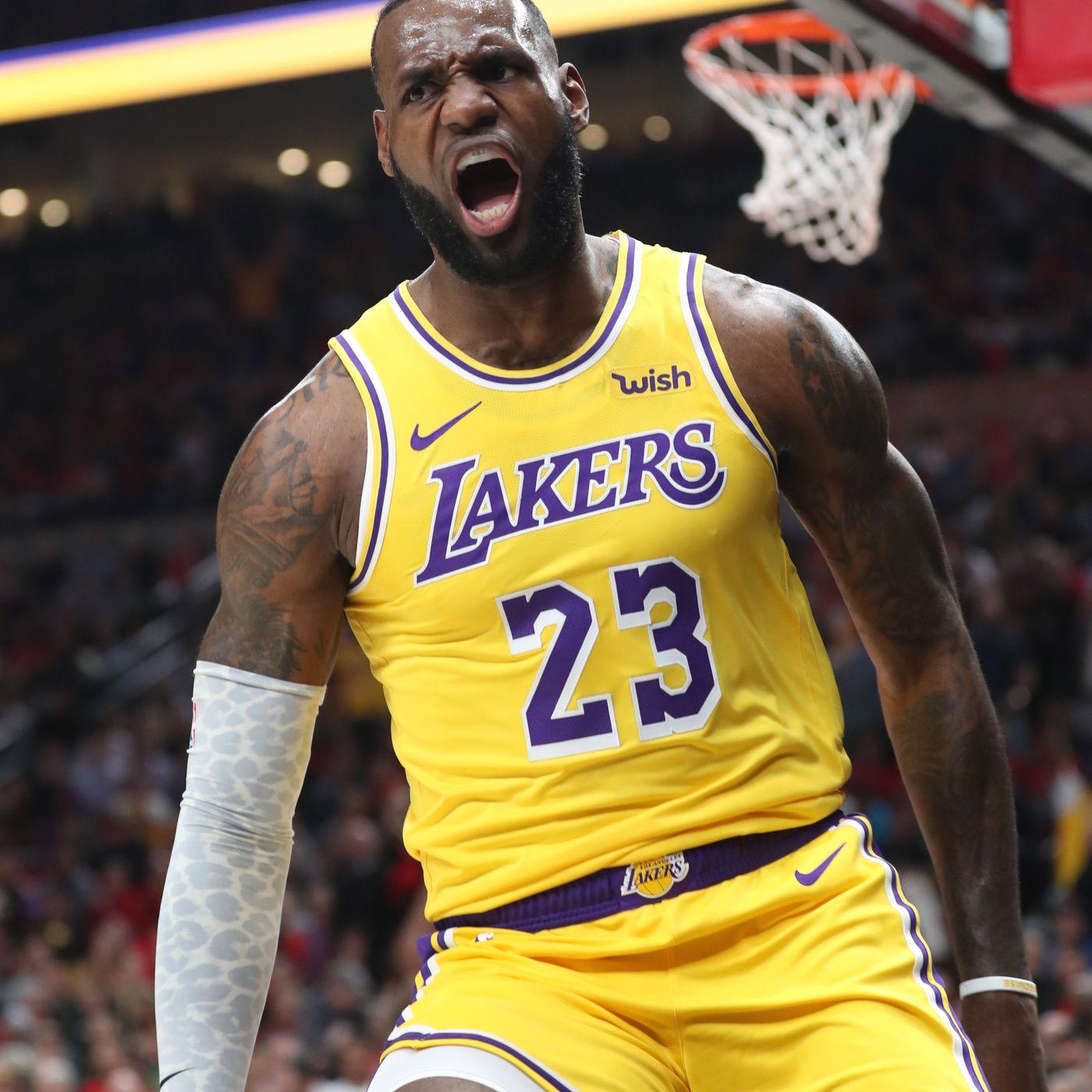 Video Lebron Lillard Engage Trade Epic Dunks As Lakers Face