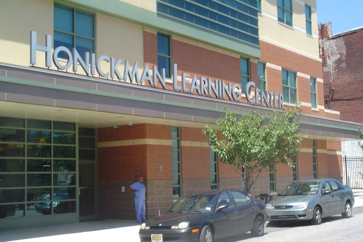 Exterior of Honickman Learning Center.