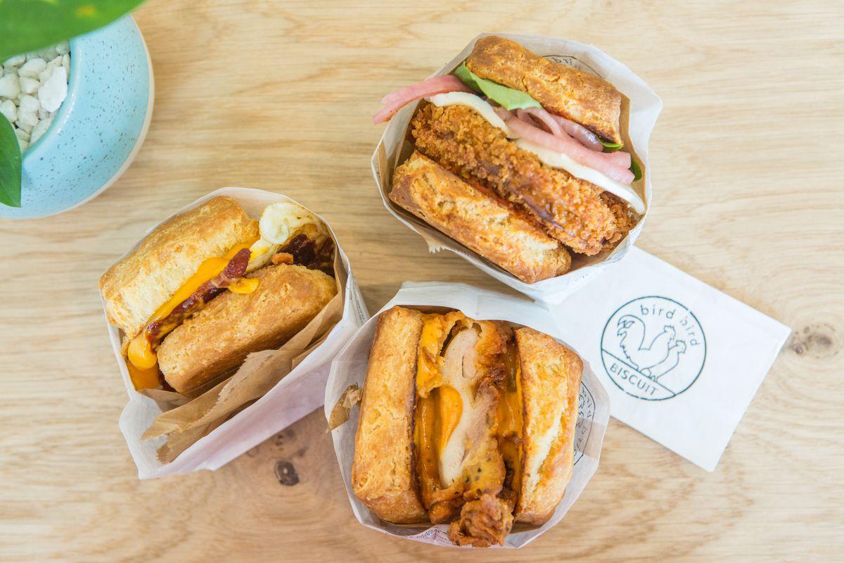Biscuit sandwiches from Bird Bird Biscuit