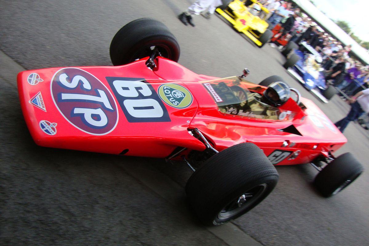 The fabled STP Turbine, perennially one of the biggest draws at the IMS Museum and a fixture in the Indy 500's long history. (Photo: Steve Shunck/INDYCAR)