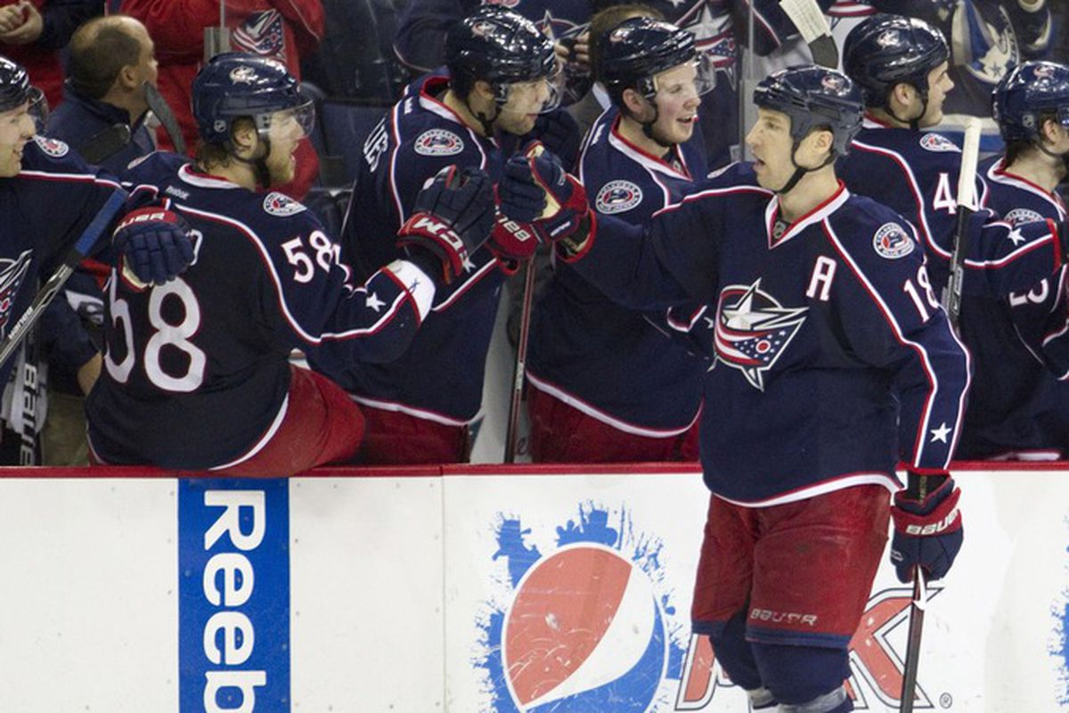 R.J. Umberger had a hat-trick the last time the Blue Jackets played the Hurricanes in March 2012