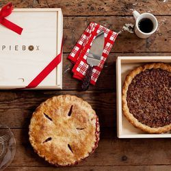 A pie box - $35 at Mighty Nest, Haymaker and Favor the Earth