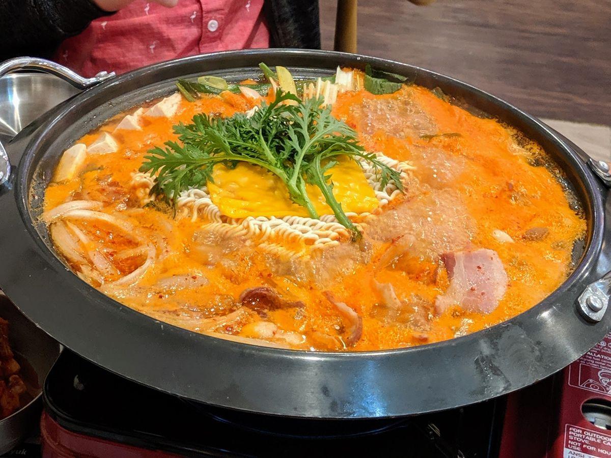 Army base stew at Haemaru in Koreatown