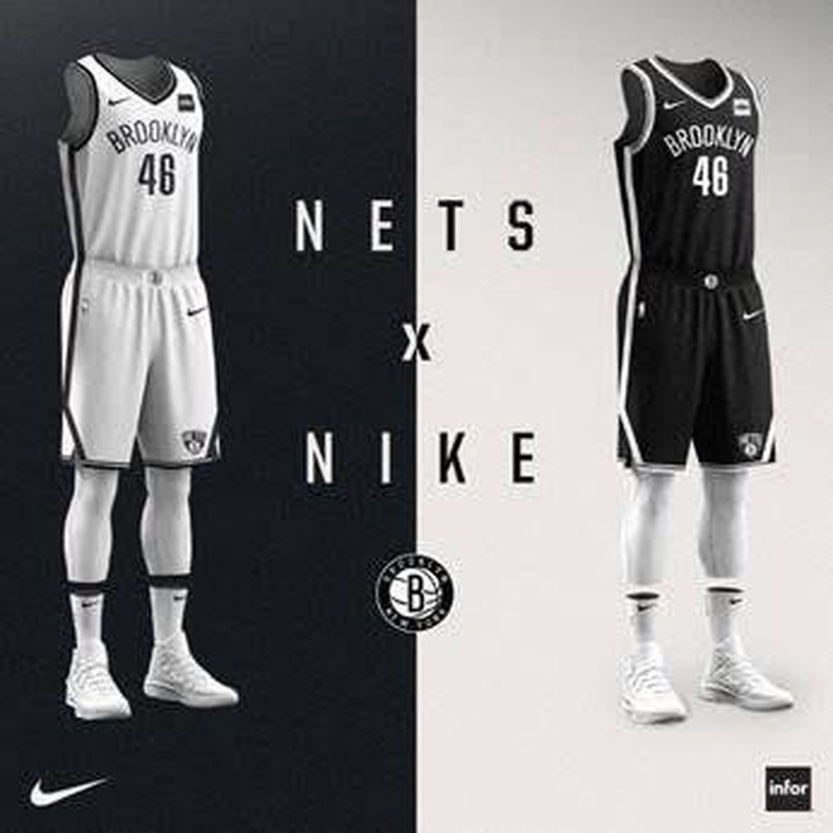 You'll notice stripe down the side of the shorts originally went straight  down. Now they cut diagonal. Also, the secondary Brooklyn logo was added to  the ...