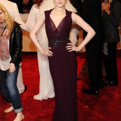 Evan Rachel Wood in aubergine Gucci