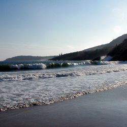 A portion of the beach at Acadia National Park near Bar Harbor, Maine, is shown on the east side of Mount Desert Island in this October 2002 photo.