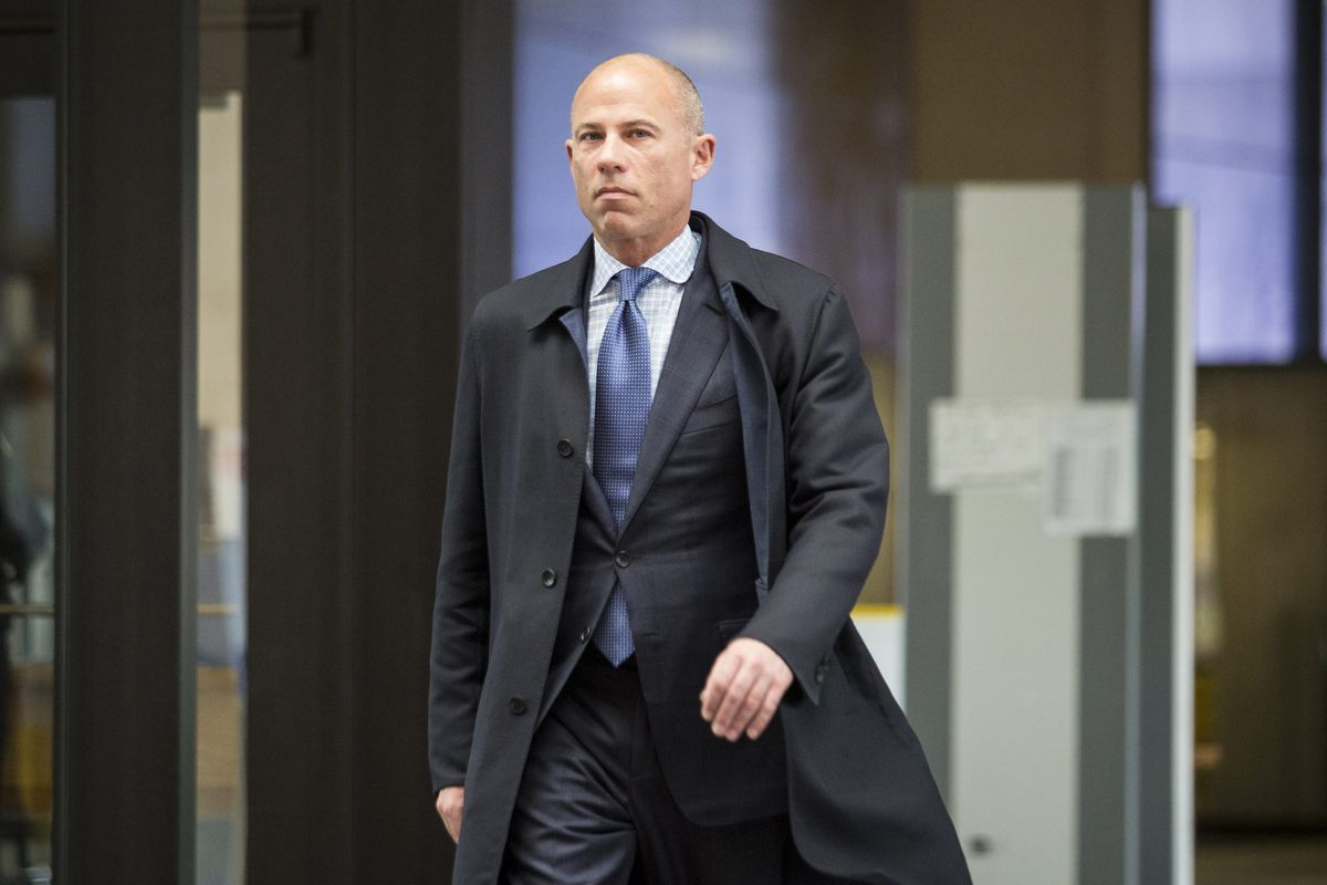 Attorney Michael Avenatti walks into the Leighton Criminal Courthouse. He has been charged in a 36-count federal indictment in Southern California.   Ashlee Rezin/Sun-Times