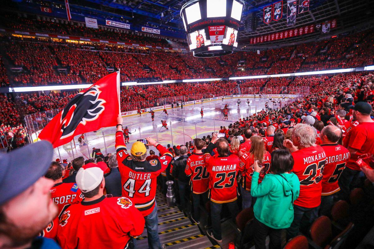 NHL: Stanley Cup Playoffs-Anaheim Ducks at Calgary Flames