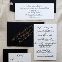 """""""We just sent out our invitations made by <a href=""""http://www.bungalow36.com/""""target=""""_blank"""">Bungalow 36</a>."""""""