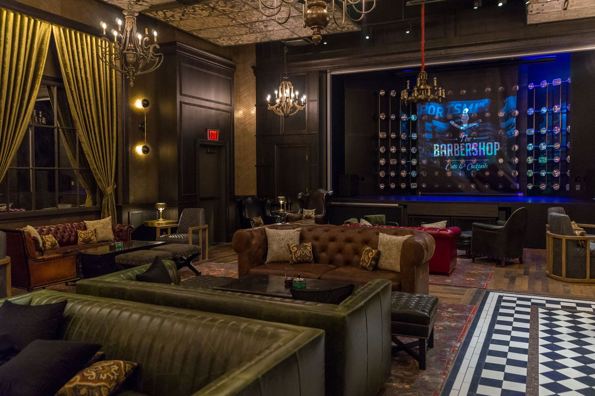 See Inside The Barbershop Cuts Cocktails Speakeasy Before It Opens Eater Vegas