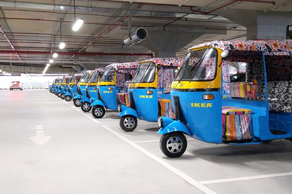 Ikea S India Store Offers Delivery By Solar Powered Rickshaws Curbed