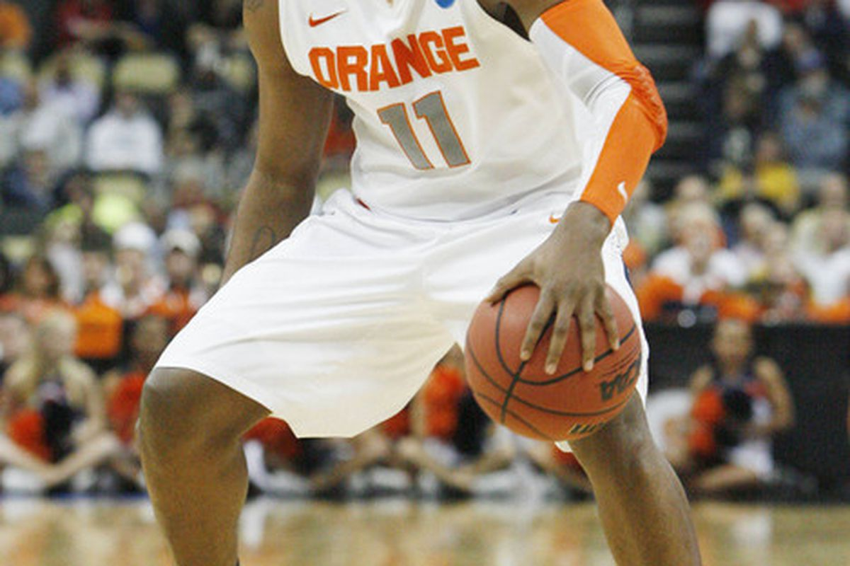 Syracuse is still playing in the Big Dance (Mandatory Credit: Charles LeClaire-US PRESSWIRE)