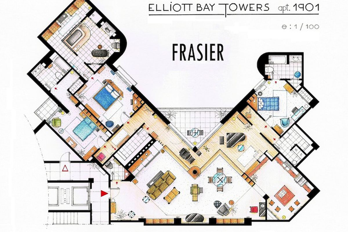 Meticulous Blueprints Of Seinfeld S Apartment And Other