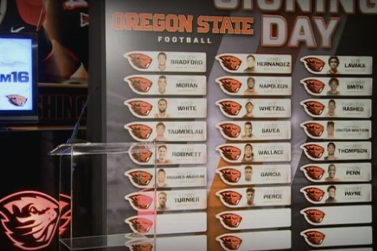 Oregon State's recruiting class came together a while ago, but became much more official today.
