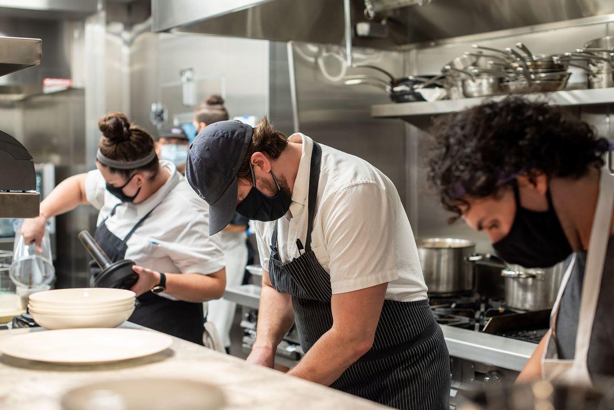Kitchen staff at Gigi's Hollywood