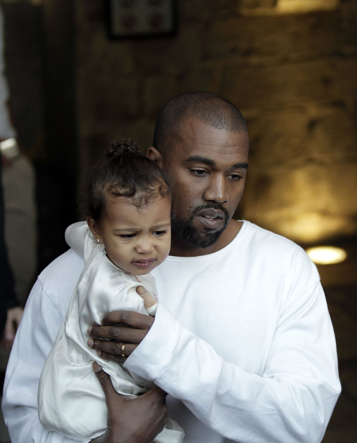 During a discussion on abortion this past weekend in a South Carolina campaign rally, Kanye West veered into his private life with his wife, explaining that they considered terminating her first pregnancy. He emotionally said that Kardashian ended up fighting to keep the unborn child, andgave birth to daughter North(pictured with Kanye) in 2013.