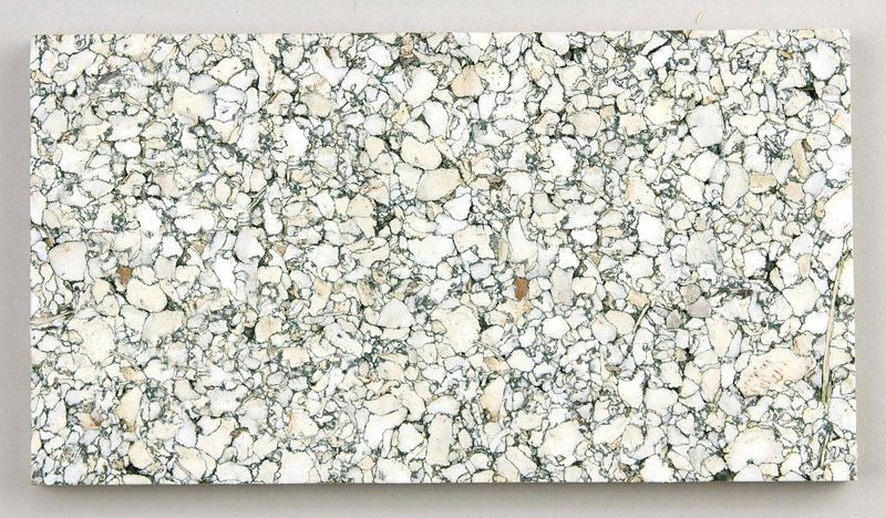 White and green slab of foam