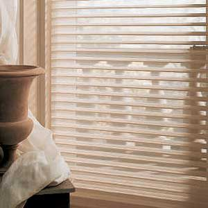 <p>The wide slats of some window shadings (left) don't obscure the outdoors as much as narrower ones (above) do</p>
