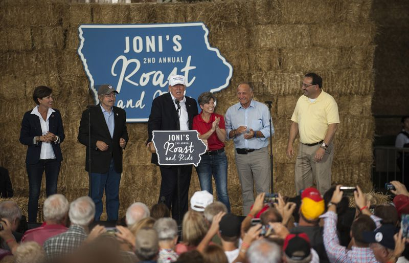 Donald Trump Attends Joni Ernst's Annual Roast And Ride In Des Moines