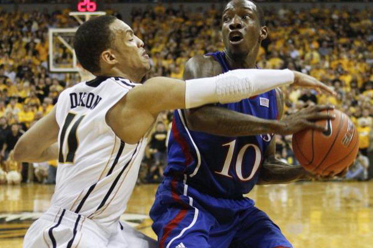 Kansas vs. Missouri on Feb. 4, 2012