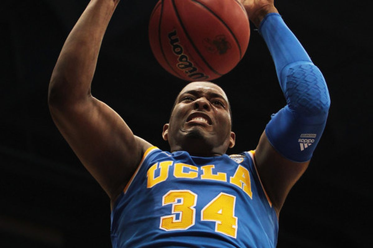 Here's to hoping we see a motivated Joshua Smith #34 of the UCLA Bruins tonight.  (Photo by Jamie Squire/Getty Images)
