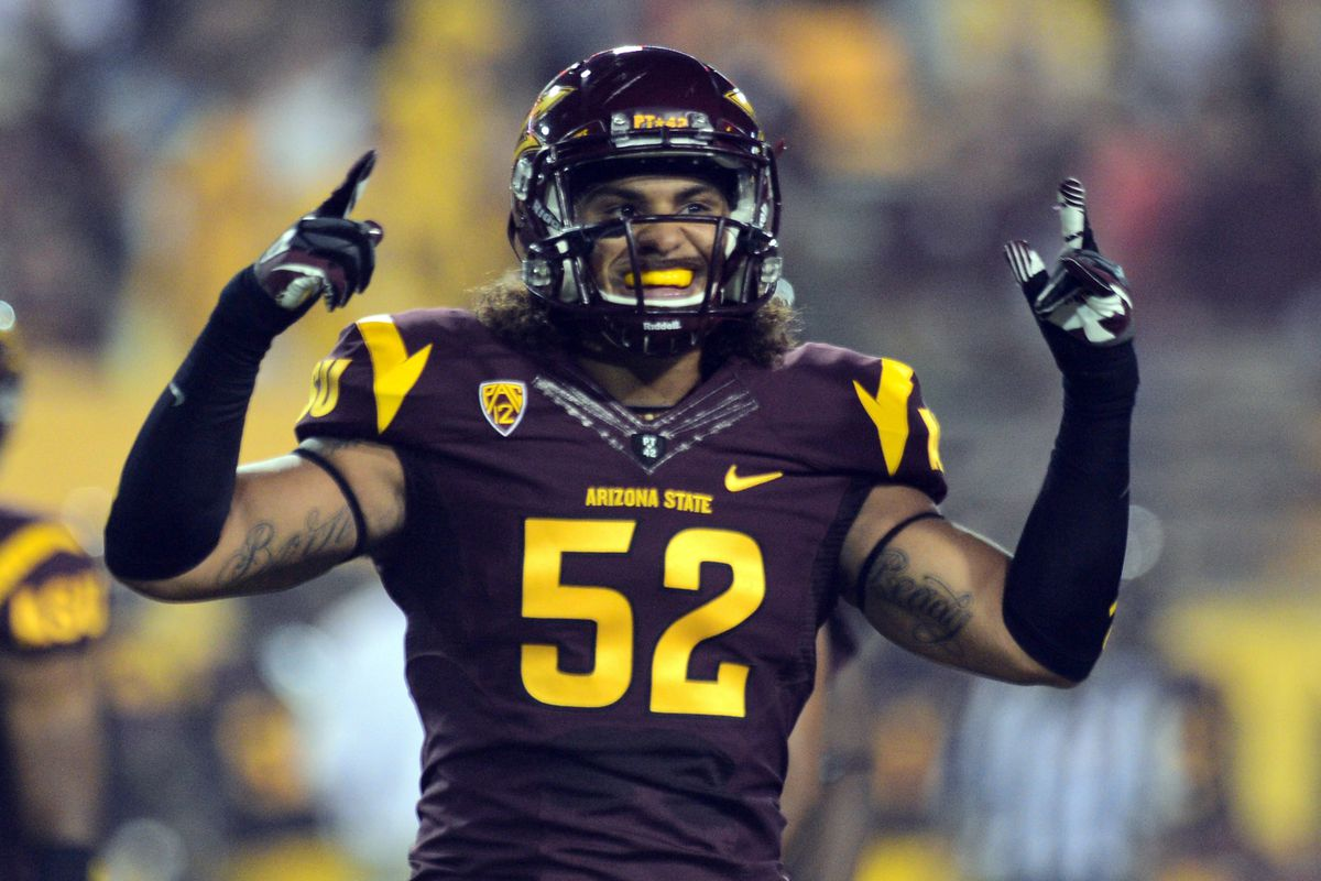 Carl Bradford and the ASU linebackers come in at No. 4 in our rankings.