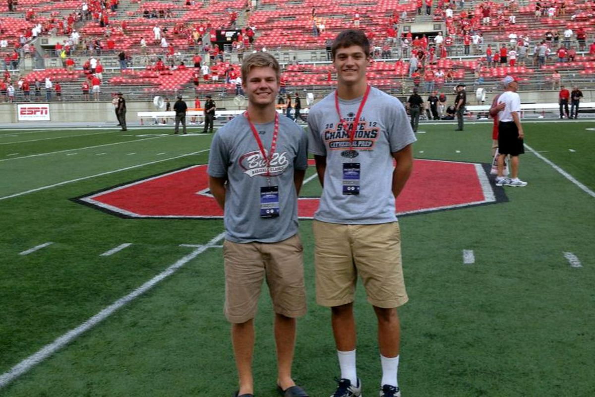 Billy and Charlie Fessler were a couple of the prospects on campus Saturday.