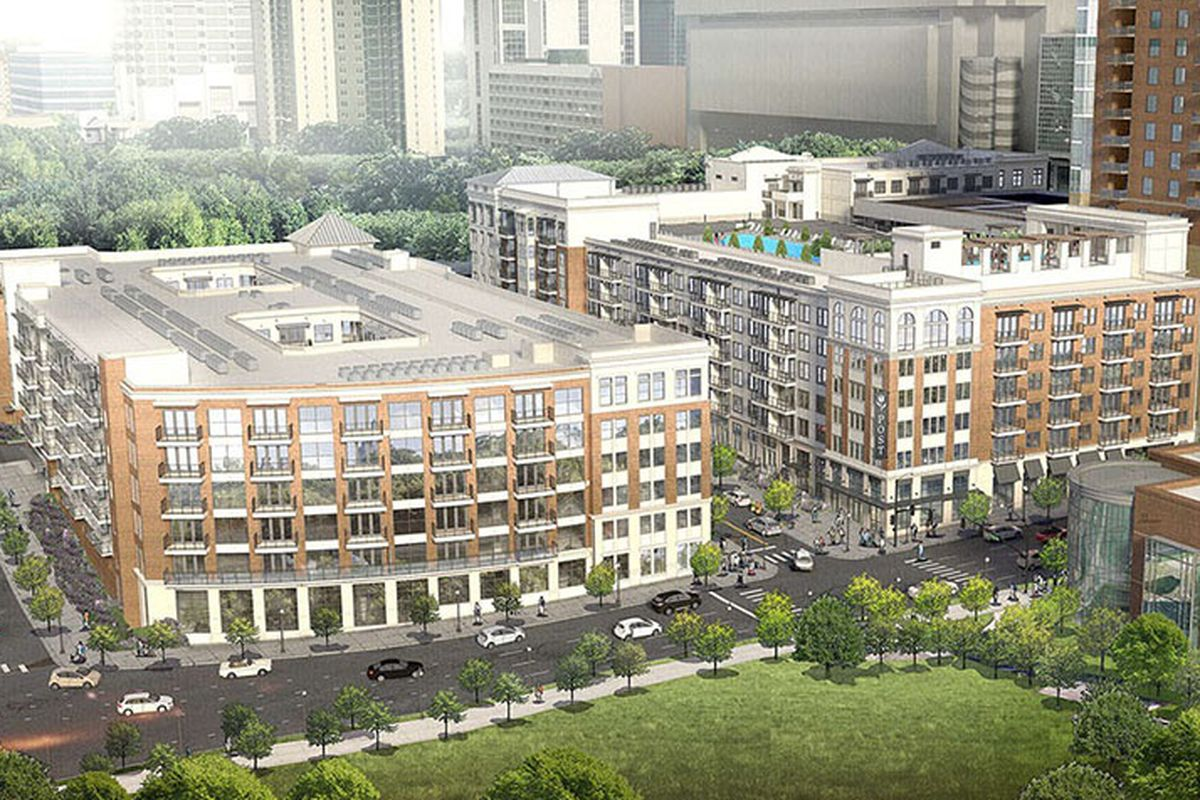 A rendering of the Post Centennial Olympic Park project.