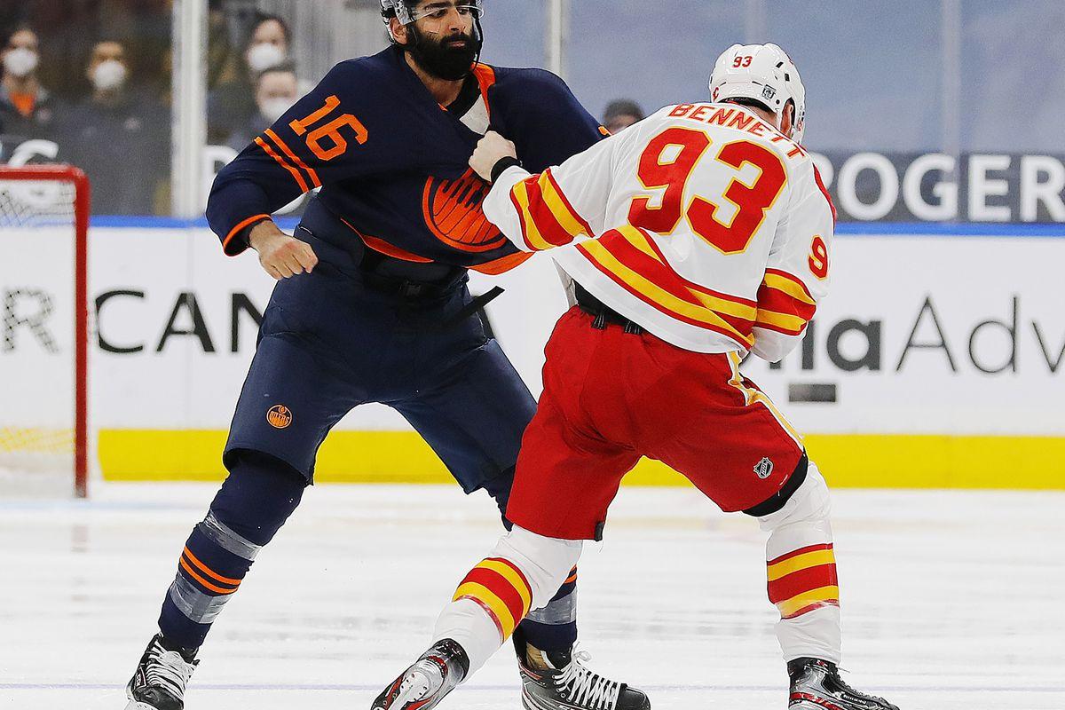 NHL: Calgary Flames at Edmonton Oilers