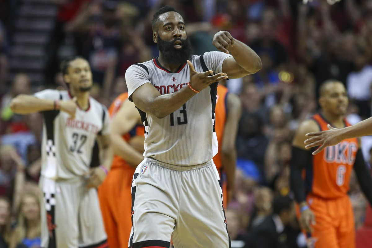 f713ef16705 NBA scores 2016  James Harden goes into hero mode to keep Rockets  playoff  hopes alive