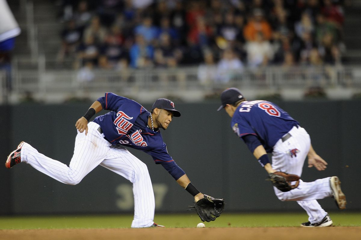 Really? No one could dive for this ball? (Yes, that ball rolled past both of them)