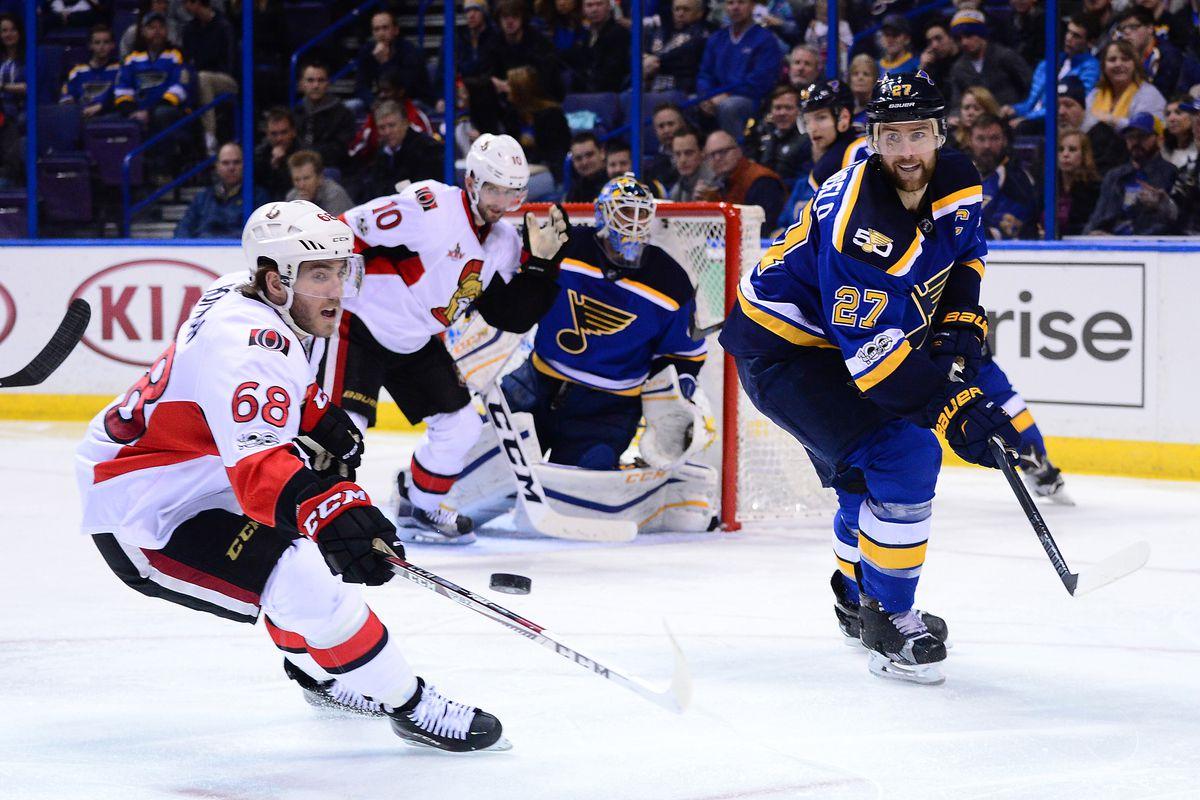 NHL: Ottawa Senators at St. Louis Blues