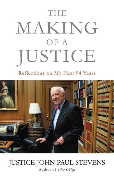 """Former Supreme Court Justice John Paul Stevens' new book """"The Making of a Justice."""""""