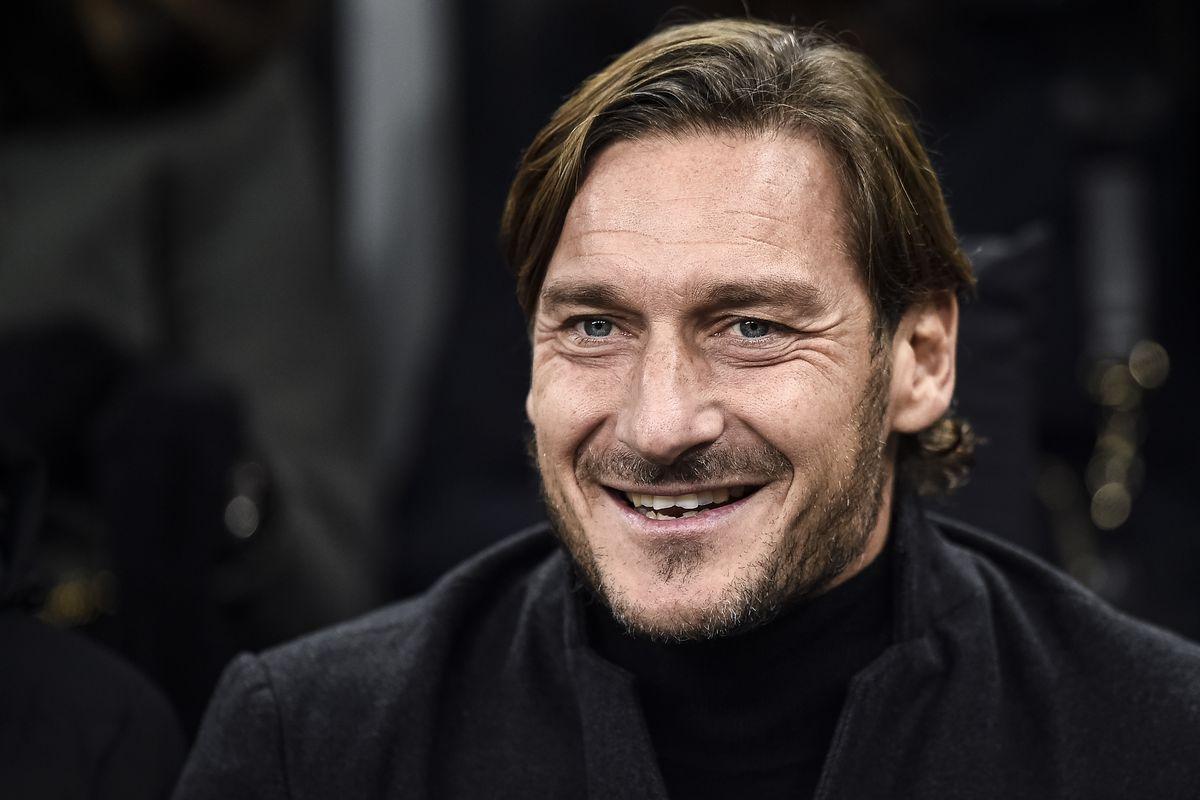 Francesco Totti attends the Serie A football match between...