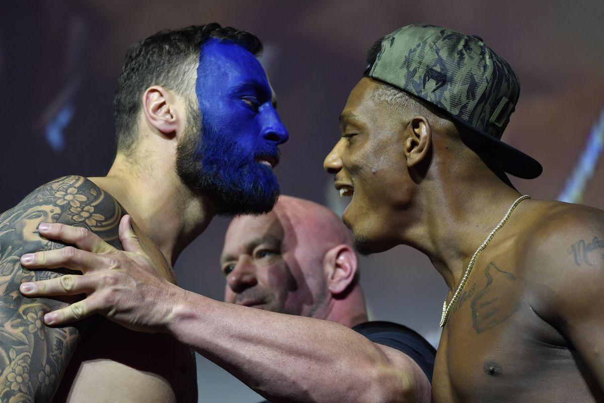 Paul Craig and Jamahal Hill at UFC 263 weigh-ins