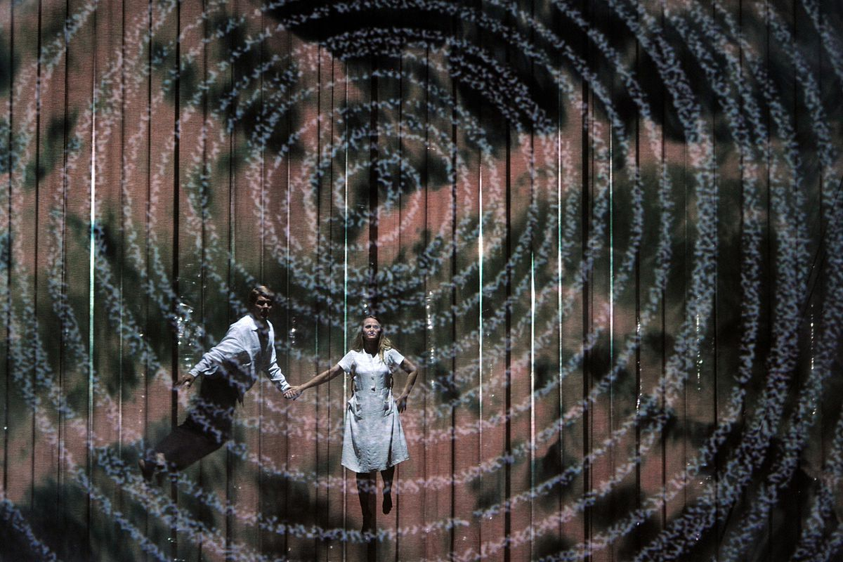 Ignore the words. There's a ton of insane images right on stage, like in this production of The Magic Flute.
